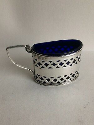 Solid Silver Victorian Antique Condiment Pot