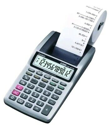 CASIO Portable 12 Digit Display Printing Calculator HR-8TM Plus - AD-A60024