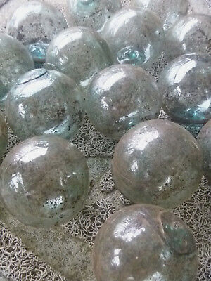 "Japanese Glass Fishing Floats 2"" Lot-15 Dirty PLAIN Rust Tar Industrial Grubby!"
