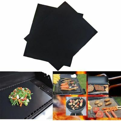 PTFE Non-stick BBQ Grill Mat Barbecue Baking Liners Reusable Teflon Cooking