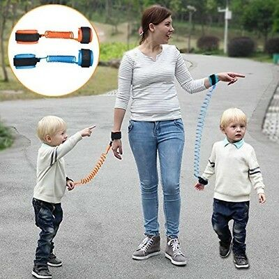 (2) PACK /Anti-Loss Strap Wrist Link Hand Harness/ Safety for Toddlers Child Kid