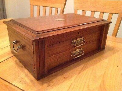 Antique Collectors Or Documents Cutlery Box