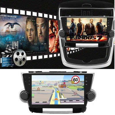 HD Android 5.1 Radio Player GPS Nav Bluetooth Fit For Toyota Highlander 10-13