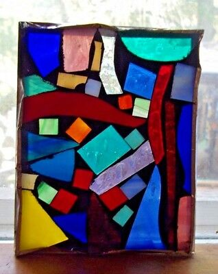 """Hand Made 4"""" X 5"""" Leaded Stained Glass"""