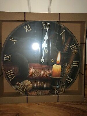 LISA PARKER WITCHING HOUR CLOCK GOTHIC WALL CLOCK...30cm approx £15.99