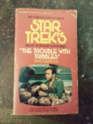 Star Trek's The Trouble with Tribbles, by David Gerrold / SF / B&W PHOTOS / 1973