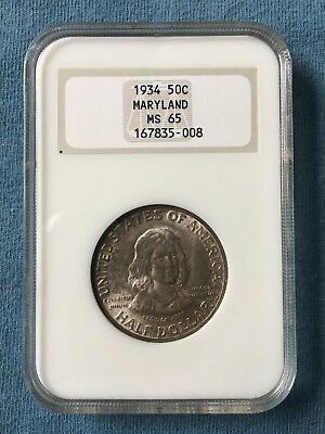 1934 NGC MS 65 Maryland Commeorative Silver Half Dollar
