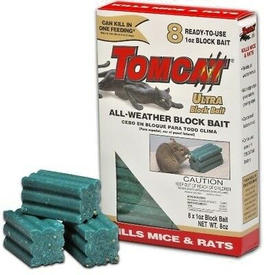 Tomcat All Weather Blox 224gm the Best Rat Mouse Bait Poison Kills in 1 Feed