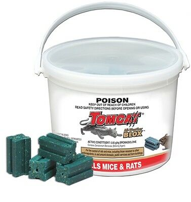 Tomcat All Weather 28 Blox Green 784gm Rat Mouse Bait Powerful Tomcat