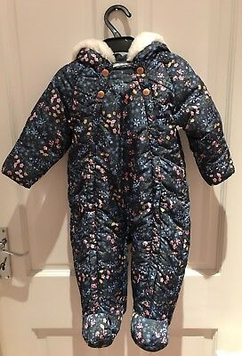 8fedae5ee Baby Girl Ditsy Floral Outdoor Winter Snowsuit Pramsuit 9-12 Months from M&S