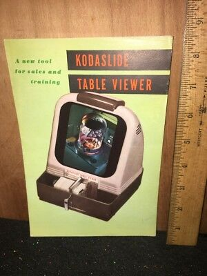 Kodaslide Table Viewer Full Color Pamphlet Brochure.