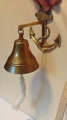 SHIPS ANCHOR with BELL - Nautical Theme - Brass Bell - NOT OLD