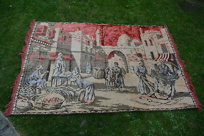 Wall Hanging, Tapestry, Antique, Vintage, Large, Victorian