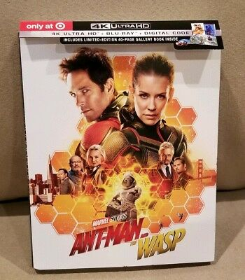 Marvel's Ant-Man & The Wasp Target Exclusive 4K Uhd Blu-Ray Digibook No Digital