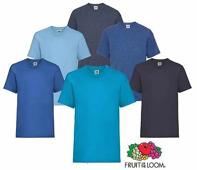 0b6a145df17e Plain Blue Fruit of the Loom Cotton Childrens Kids Boys Girls T Shirt Tee