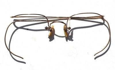 Vtg Eye Glasses 12K Yellow Gold Frames - 8 Grams (14, 18)