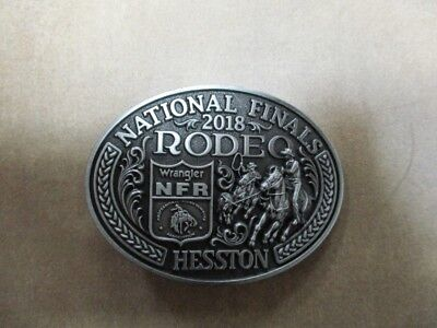 "New!!!!  2018 Hesston National Finals Rodeo ""Womens/Youth"" Belt Buckle"