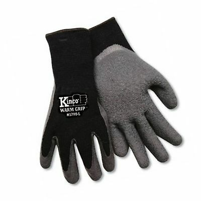 KINCO 1790-M Men's Warm Grip Thermal Lined Latex Coated Gloves, Medium, Black...
