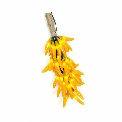 Novelty Lights CP-CLUSTER Chili Pepper Clustered Mini Light Set, Yellow, Gree...