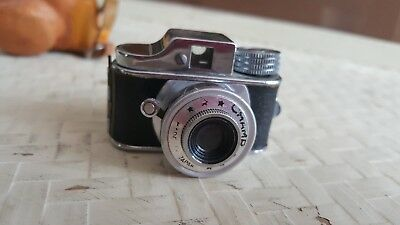"""Vintage Collectible """"Champ"""" Unusual Subminiature Camera with leather Case"""