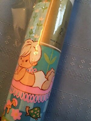Vintage Gift Wrap Mid Century Mommy And Baby Wrapping Paper Baby