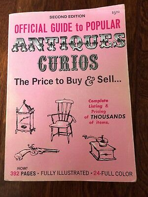 Official Guide to Popular Antiques Curios Price To Buy & Sell 2nd Ed. PB 1970