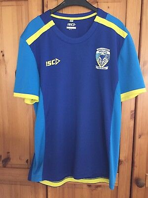 Warrington Wolves  Thee Wire Rugby  Shirt Isc Jersey Size Adult L