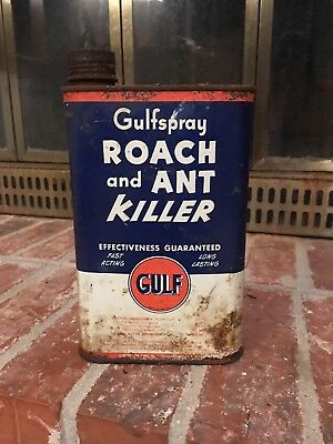 Retro Gulf Oil Gulfspray Roach And Ant Killer Can
