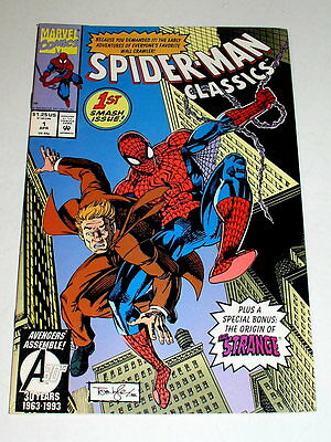 SPIDER-MAN CLASSICS #1  REPRINTS THE 1ST SPIDER-MAN Free Shipping