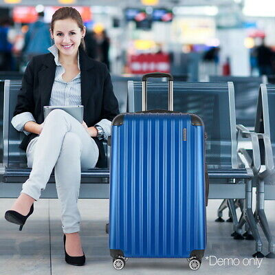"28"" Large Travel Luggage Hard Shell Case Trolley Lightweight Suitcase TSA Lock"