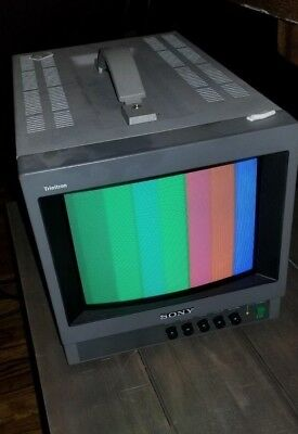 """Sony 8"""" Trinitron PVM-8040 Color Video Monitor - TESTED"""
