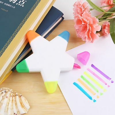 1PC Five-pointed Star Highlighter Five-color Whiteboard Marker Pen Stationery