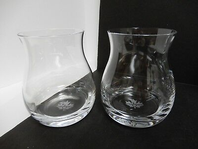 Set of 2 GLENCAIRN Crystal Canadian Whisky Glasses - Maple Leaf - Snifters Bowls