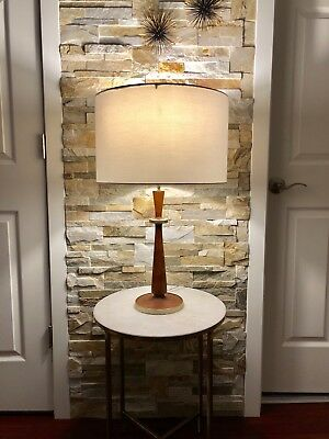 Vintage Mid Century Style Victoria Hagan Perfect Pieces Solid Wood Table Lamp