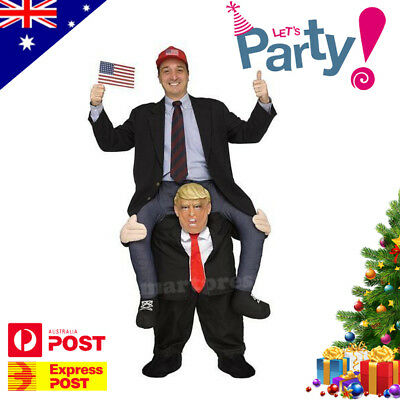 Donald Trump Carry Me Ride On Piggy Back Costume Adult Fancy Party Dress Xmas