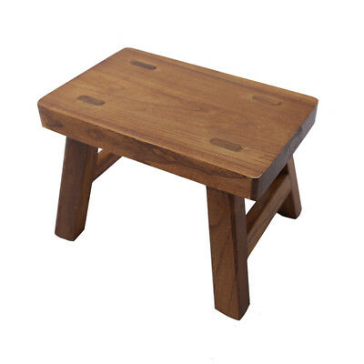 Solid Wood Stools Portable Bench Home Garden Kitchen Camping Stool 6 inch