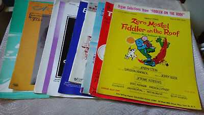 Lot of 9 Movie Musical Sheet Music South Pacific Cat Tin Roof Apartment Porgy