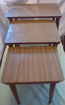 Vintage, Retro, Nest of 3 small tables 1960's