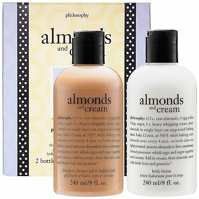 PHILOSOPHY Almond And Cream Gift Box Set Shampoo Shower Gel Body Lotion NIB