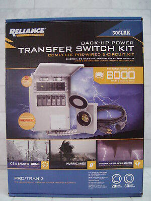 Reliance Back-Up Power Pre-wired 6-Circuit Complete Transfer Switch Kit 306LRK