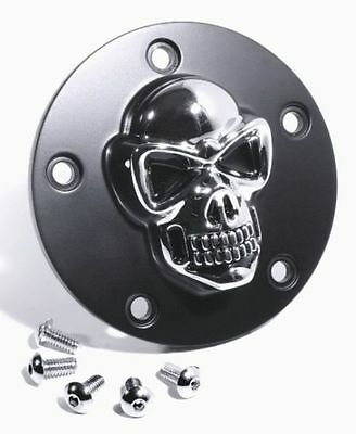 3D Skull Ignition Cover Black for Harley-Davidson Softail Skull