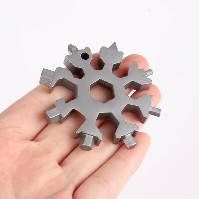 Hot Snowflake Multi Tool 18 In 1 Functions Compact And Portable Outdoor Products
