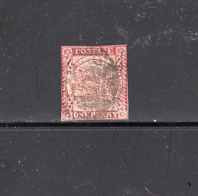 New South Wales - 1850 - 1d red used
