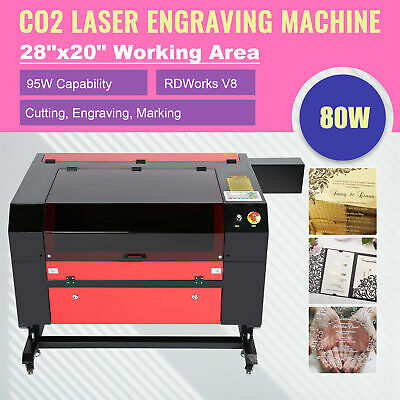 "Co2 Laser Engraver Cutter Ruida DSP Cutting Engraving Marking Machine 28""x20""80W"
