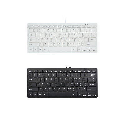 USB Wired Mini Keyboard Portable Ergonomic for PC Laptop Computer Office I6D5