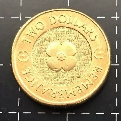 2012 Australian $2 Two Dollar Coin - Remembrance Gold Poppy