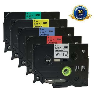 TZe-221 TZ421 521 621 721 Label Tape Compatible for Brother P-Touch 5 Color 9mm