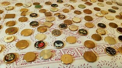 huge collection of antique vintage make-up compacts ideal display