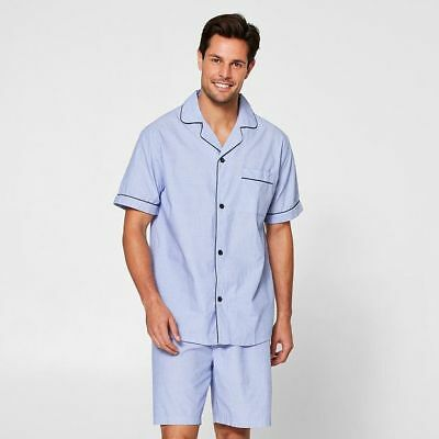 NEW Men's Short Sleeve / Short Leg Cotton Poplin Pyjamas