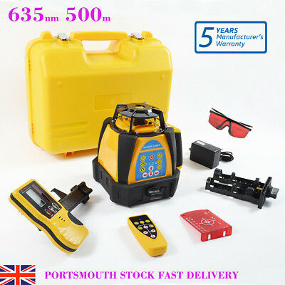 Self-leveling Rotary Rotating Laser Level 500M Range High Accuracy 635nm